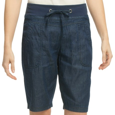 Pulp Denim Shorts (For Women) in Denim