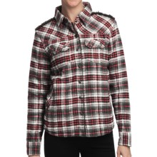 Pulp Flannel Jacket - Fleece Lining (For Women) in Red Combo - Closeouts