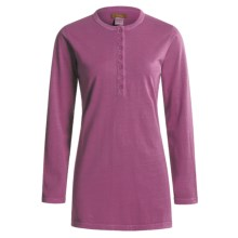 Pulp Jersey Henley Shirt - Long Sleeve (For Women) in Raspberry - Closeouts