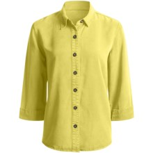 Pulp Point Collar Shirt - 3/4 Sleeve (For Women) in Citrus - Closeouts