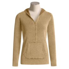 Pulp Pointelle Hooded Sweatshirt (For Women) in Toffee - Closeouts