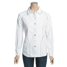 Pulp Poplin Shirt - Stretch Cotton, Long Sleeve (For Women) in White - Closeouts