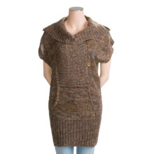 Pulp Pullover Sweater - Wool-Acrylic (For Women) in Coffee Bean/Tigers Eye/Off White - Closeouts