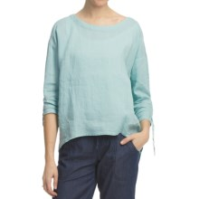 Pulp Scoop Neck Linen Shirt - 3/4 Sleeve (For Women) in Surf - Closeouts