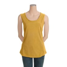 Pulp Stretch Jersey Tank Top - Ruffle Trim (For Women) in Lemon Grass - Closeouts