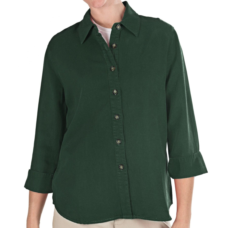 pulp tencel shirt 3 4 sleeve for women save 43