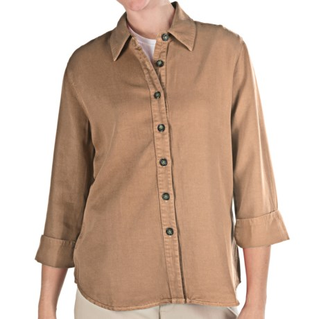 Pulp TENCEL® Shirt - 3/4 Sleeve (For Women) in Hazelnut