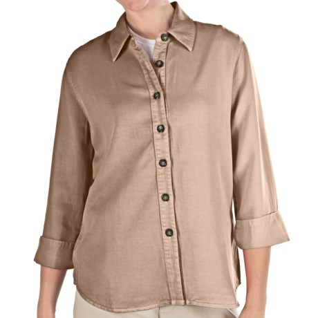 Pulp TENCEL® Shirt - 3/4 Sleeve (For Women) in Khaki