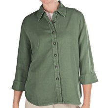 Pulp TENCEL® Shirt - 3/4 Sleeve (For Women) in Mineral Green - Closeouts