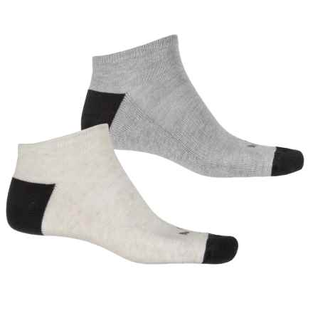 Puma 1/2 Terry No-Show Socks - 2-Pack, Below the Ankle (For Men) in Ivory - Closeouts