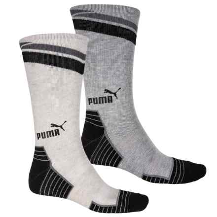 Puma 1/2 Terry Socks - 2-Pack, Crew (For Men) in Ivory - Closeouts