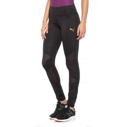 Puma Angle Around Leggings (For Women) in Puma Black Gold - Closeouts