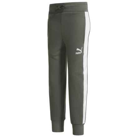 Puma Archive Logo Pants (For Big Boys) in Castor Grey - Closeouts