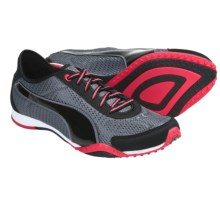 Puma Asha Mesh Sneakers (For Women) in Black/Steel Grey/Teaberry Red - Closeouts