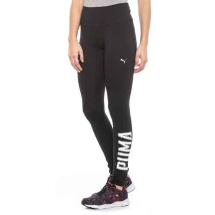 3cc5646375 Puma Athletics Logo Leggings (For Women) in Black White - Closeouts