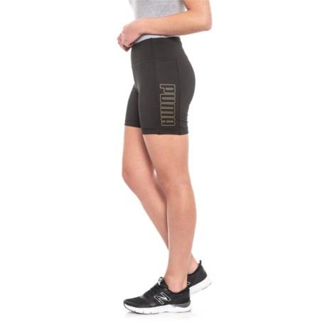 175c35c72e Puma Attitude Shorts (For Women) in Puma Black Puma Black Gold