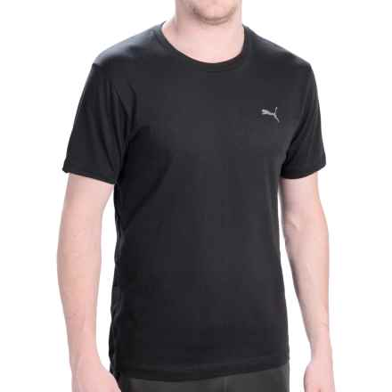Puma Basic T-Shirt - Short Sleeve (For Men) in 001 Black - Closeouts