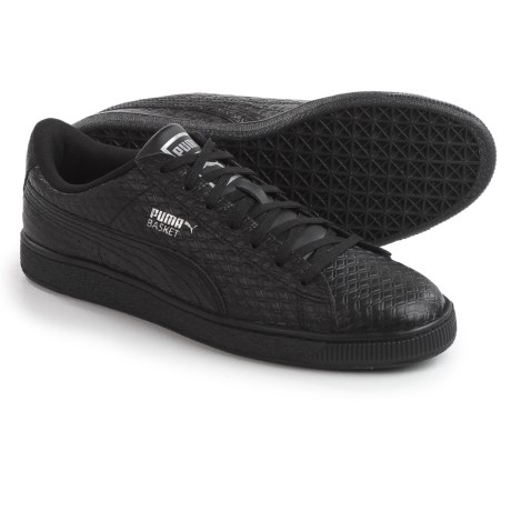 Puma Basket Classic B&W Sneakers - Leather (For Men) in Puma Black