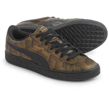 Puma Basket Classic Metallic Sneakers - Vegan Leather (For Women) in Black - Closeouts