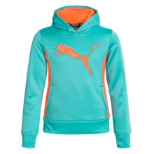 Puma Big Cat Technical Hoodie (For Big Girls) in Faster Blue - Closeouts