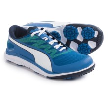 Puma BioDrive Golf Shoes - Waterproof (For Men) in Strong Blue/Peacoat/Yellow - Closeouts