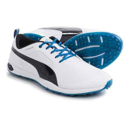 Puma BioFly Golf Shoes - Waterproof (For Men) in White/Black/Strong Blue - Closeouts