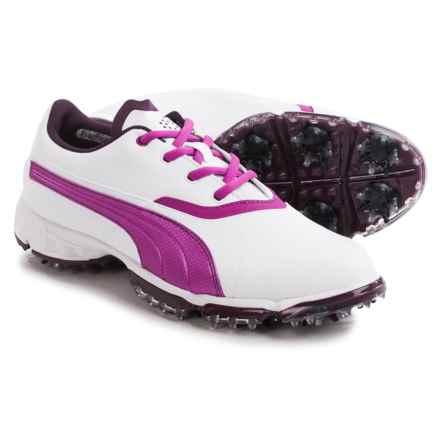 Puma BioPro Golf Shoes - Waterproof (For Women) in White/Italian Plum/Purple Wine - Closeouts