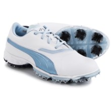 Puma BioPro Golf Shoes - Waterproof (For Women) in White/Omphalodes/Medieval Blue - Closeouts