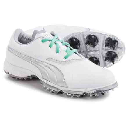 Puma BioPro Golf Shoes - Waterproof (For Women) in White/Silver Metallic - Closeouts