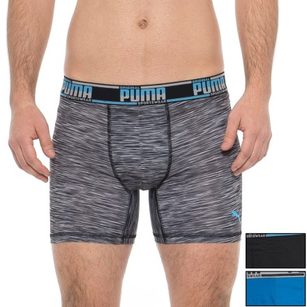 6ff724595580 Puma Black-Blue High-Performance Sportstyle Boxer Briefs - 3-Pack (For