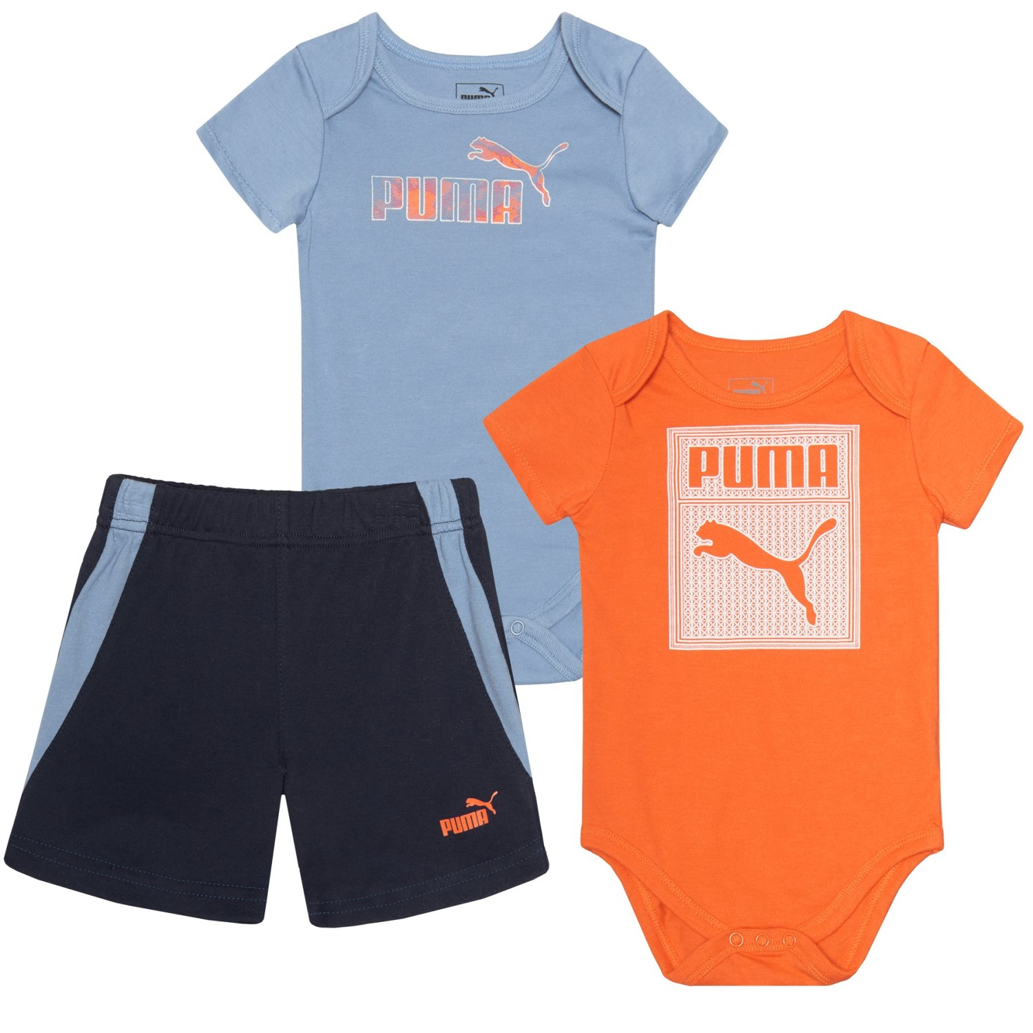 Puma Cat Baby Bodysuits and Shorts Set For Infant Boys Save
