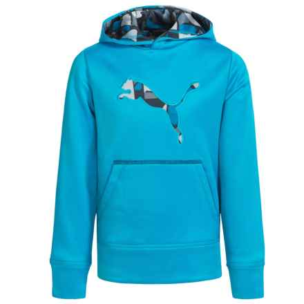 Puma Cat Logo Hoodie (For Little Boys) in Atomic Blue - Closeouts