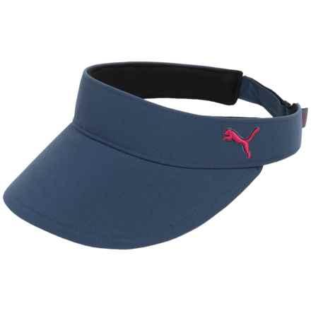 Puma Cat Visor Hat (For Women) in Bering Sea/Rose Red - Closeouts