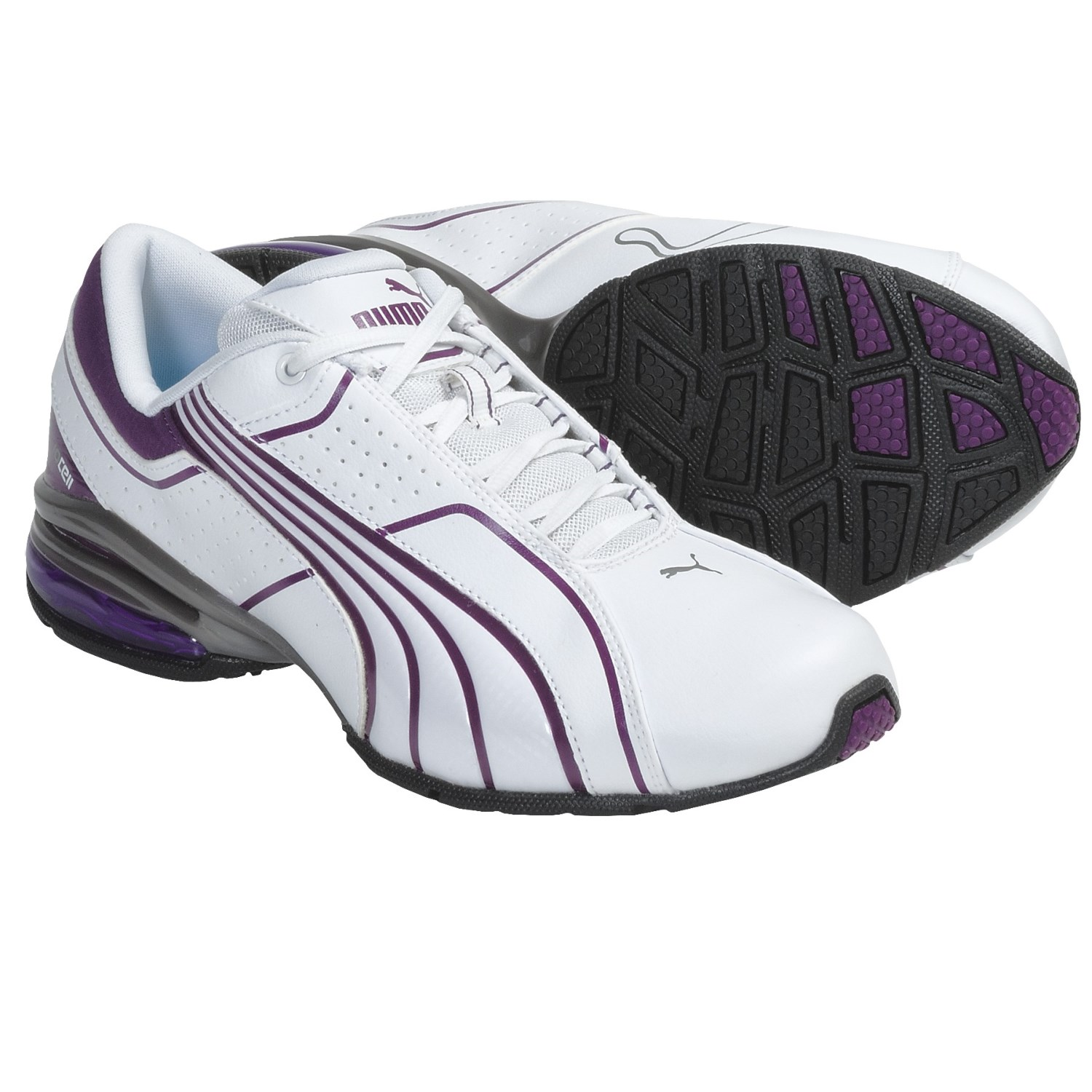 Puma Cell Tolero 3 Running Sneakers (For Women) in White/Gloxinia