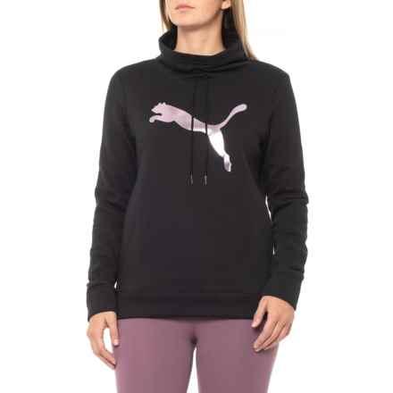 Puma Cinch-Up Fleece Sweatshirt (For Women) in Puma Black - Closeouts