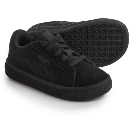 Puma Classic Badge Sneakers - Suede (For Infants and Toddlers) in Black - Closeouts