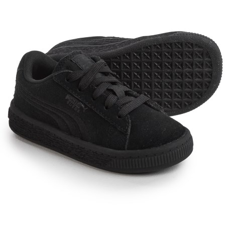 Puma Classic Badge Sneakers - Suede (For Infants and Toddlers) in Black