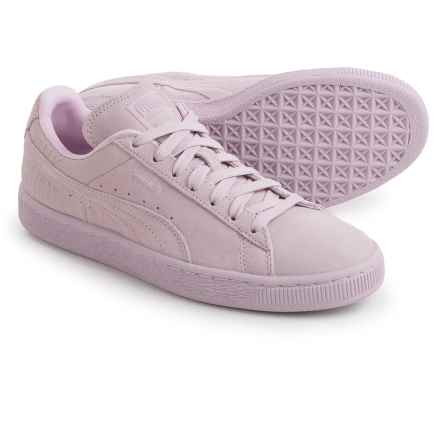 Puma Classic Embossed Sneakers - Suede (For Women) in Lilac Snow - Closeouts