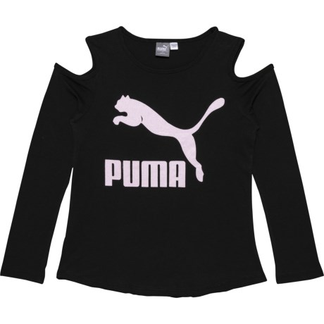 f0824f98bd64a Puma Cold Shoulder T-Shirt - Long Sleeve (For Big Girls) in Puma