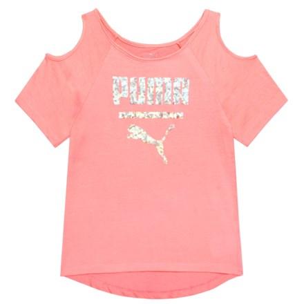 f5ca607f87d17 Puma Cold-Shoulder T-Shirt - Short Sleeve (For Big Girls) in