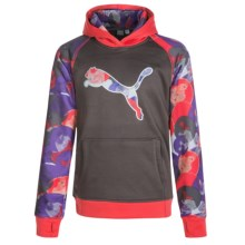 Puma Color-Blocked Hoodie (For Big Girls) in Shadow Grey - Closeouts