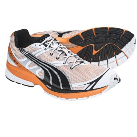 Puma Complete SLX Ryjin LT Running Shoes (For Men) in White/Black/Flame Orange