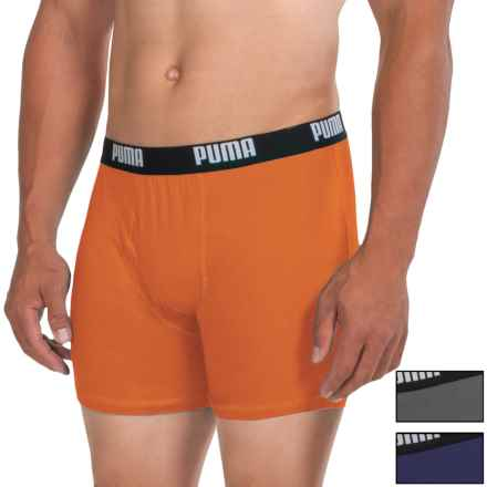 Puma Cotton Blend Boxer Briefs - 3-Pack (For Men) in Blue/Orange - Closeouts