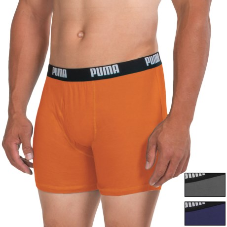 Puma Cotton Blend Boxer Briefs - 3-Pack (For Men)
