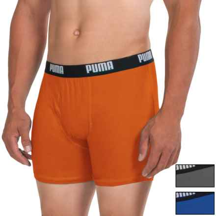 Puma Cotton Blend Boxer Briefs - 3-Pack (For Men) in Bright Orange - Closeouts