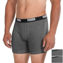 Puma Cotton Blend Boxer Briefs - 3-Pack (For Men) in Dark Grey - Closeouts