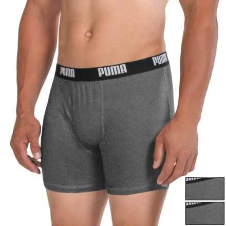 Puma Cotton Blend Boxer Briefs - 3-Pack (For Men) in Dark Grey - Closeouts