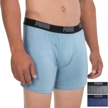 Puma Cotton Blend Boxer Briefs - 3-Pack (For Men) in Grey/Blue - Closeouts