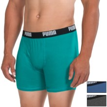Puma Cotton Blend Boxer Briefs - 3-Pack (For Men) in Teal - Closeouts