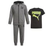 Puma Cotton Fleece Hoodie, T-Shirt and Pants Set (For Infants)